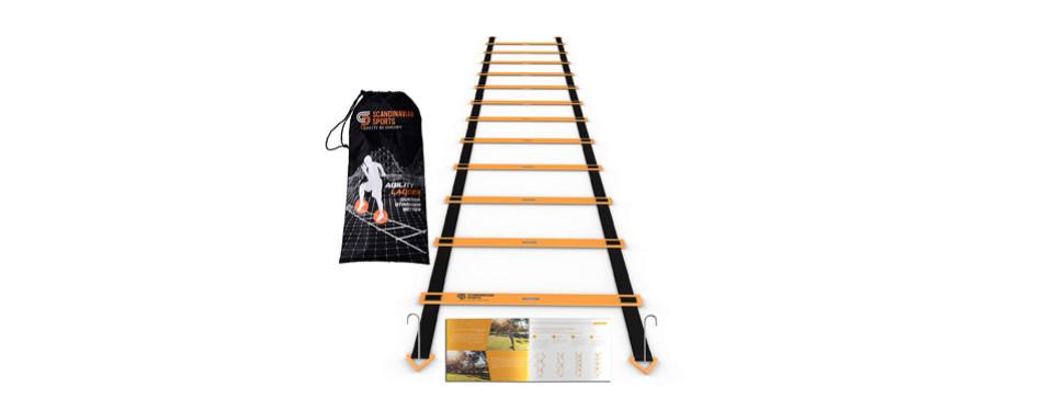 scandinavian adjustable sports agility ladder