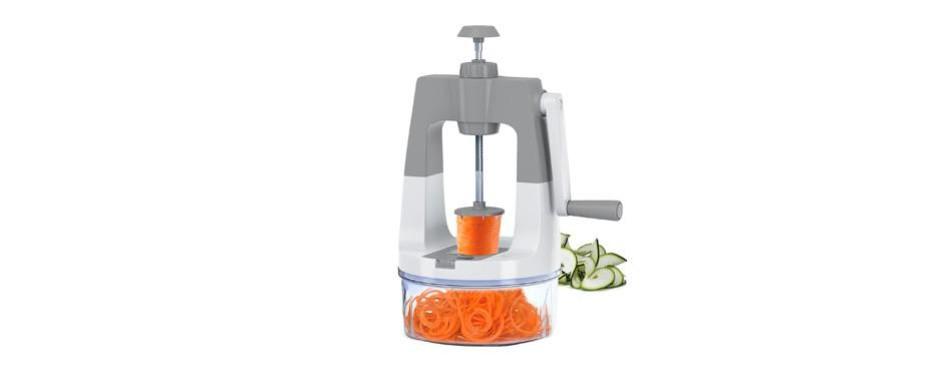 scharfpro vertical self-pressure vegetable spiralizer