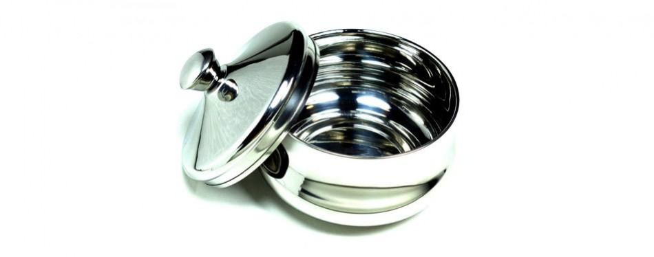 schone austrian stainless steel shaving bowl