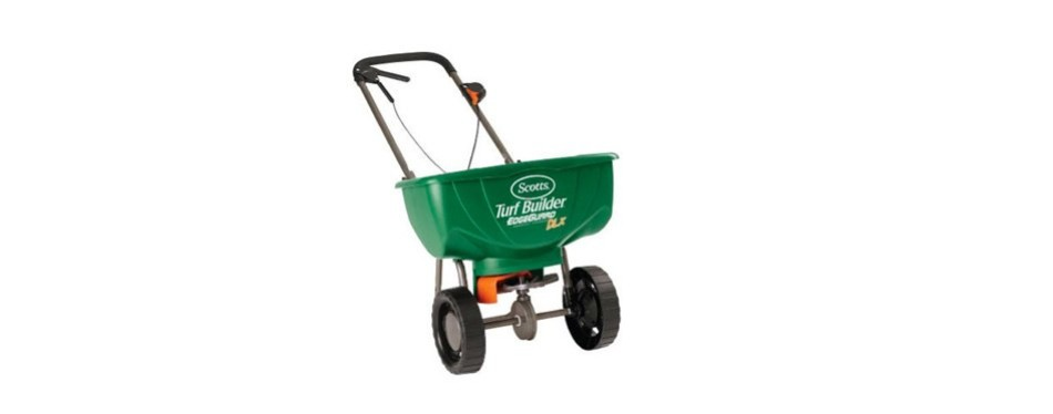 scotts turf builder pro edge guard deluxe broadcast spreader