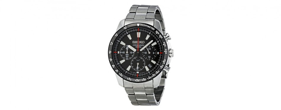 seiko chronograph in stainless steel