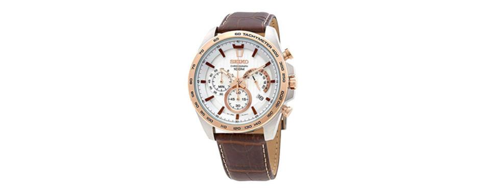seiko chronograph white dial edition