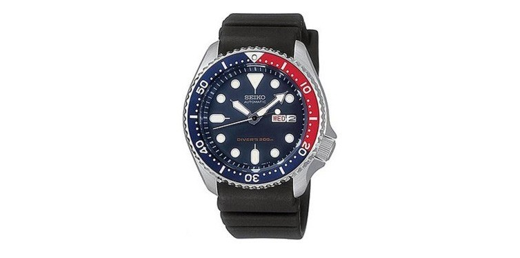 seiko divers automatic deep blue dial watch