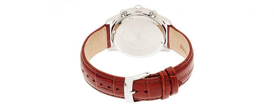 seiko men's classic steel chronograph watch