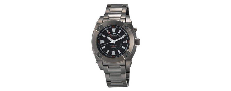 seiko men's kinetic gmt ion watch