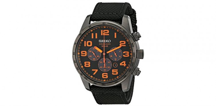 Seiko Men's SSC233 Sport Solar Brushed Stainless Steel Watch