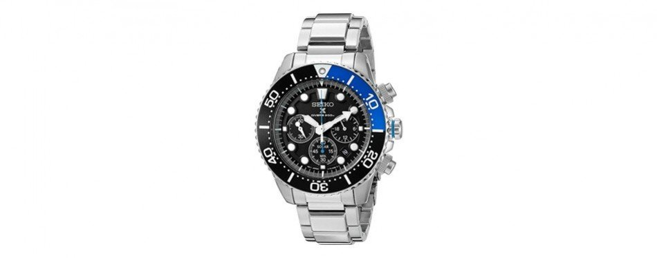 seiko prospex analog stainless steel dive watch