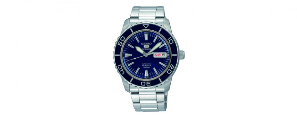 seiko steel casual watch