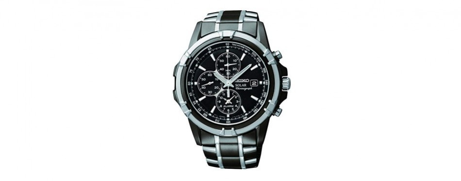 seiko two-tone chronograph dress watch