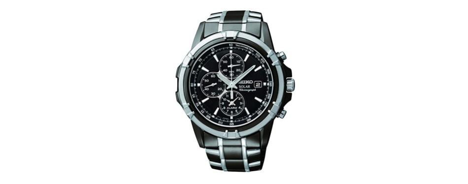 seiko two-tone chronograph dress watch