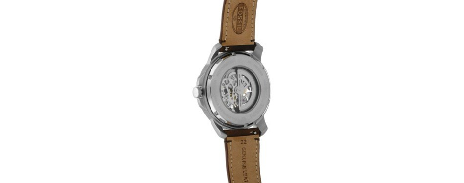 self-wound stainless steel classic watch