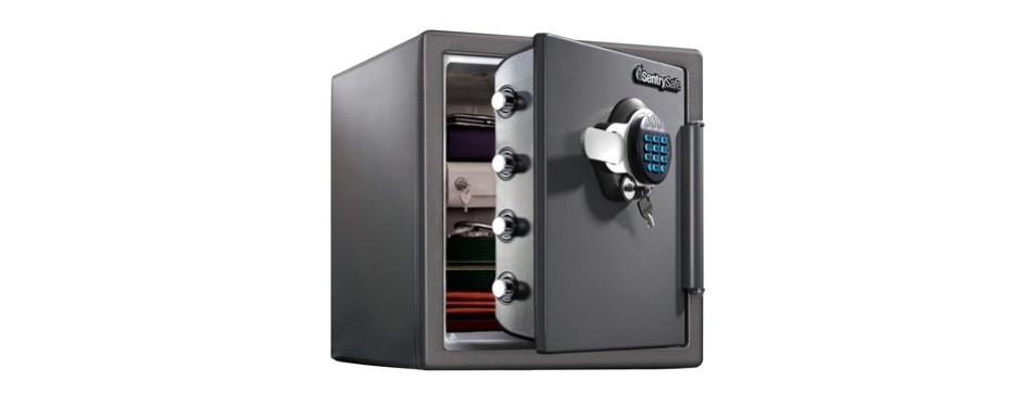 sentrysafe fire and water resistant digital combination safe
