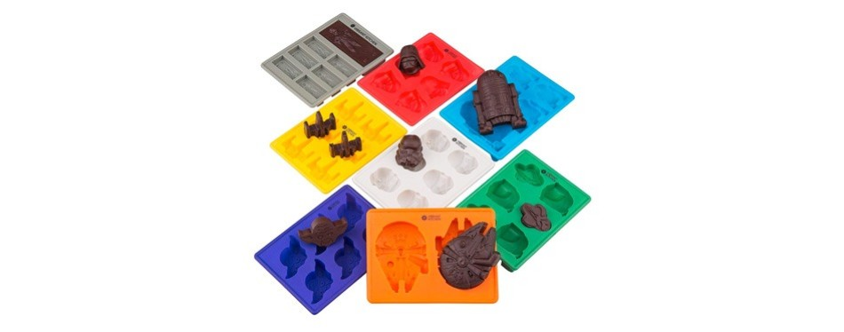 set of 8 star wars silicone ice cube molds and chocolate baking molds