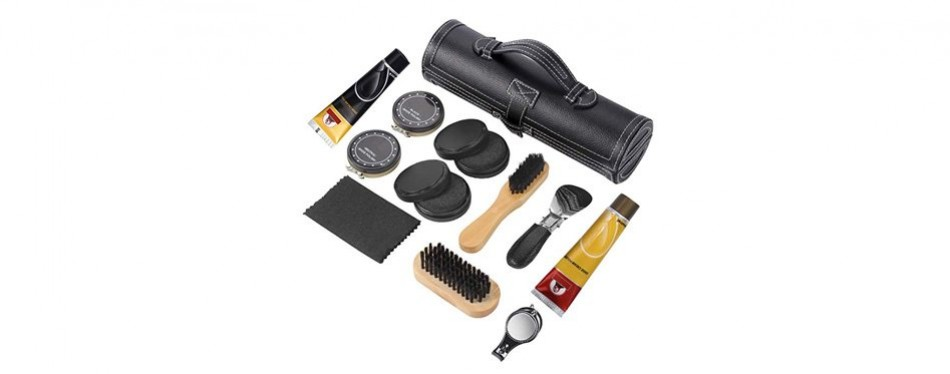 sethjcsy 12-piece travel shoe care kit