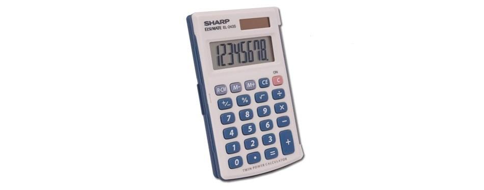 sharp electronics twin powered calculator