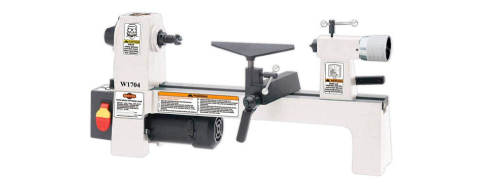shop fox horsepower benchtop lathe