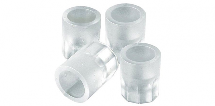Shot Glass Ice Mold Cool 4 Cups Silicone Tray