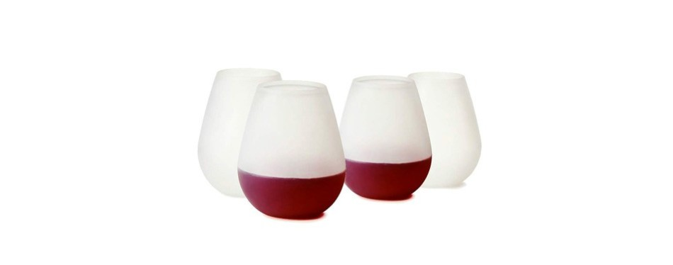 silicone unbreakable outdoor rubber wine cups