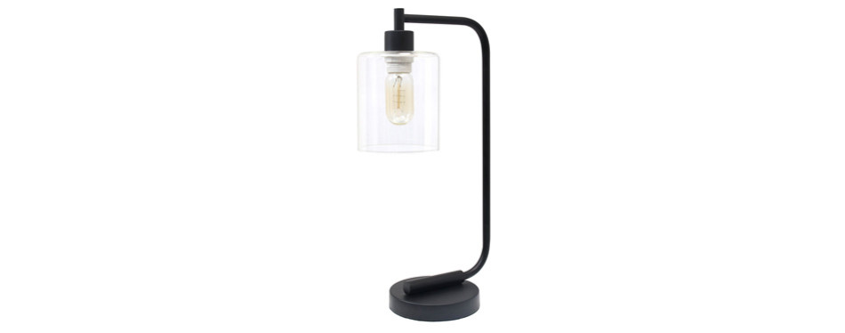 simple designs home ld1036-blk industrial iron desk lamp