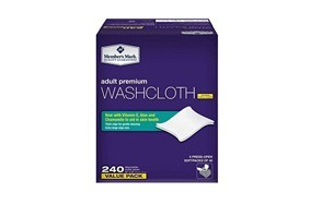 simply right member's mark adult wash-cloths