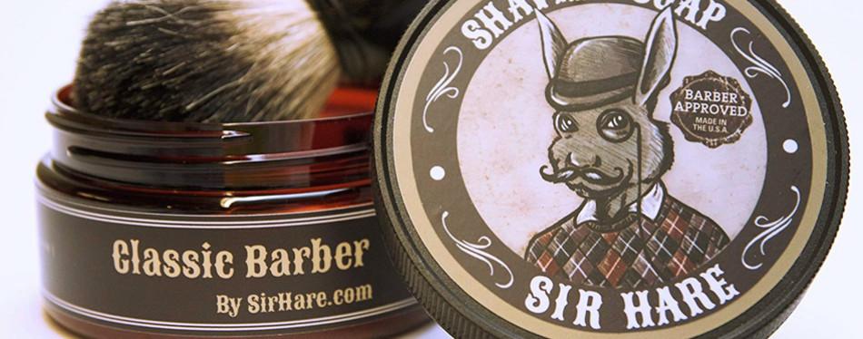 sir hare shaving soap for men