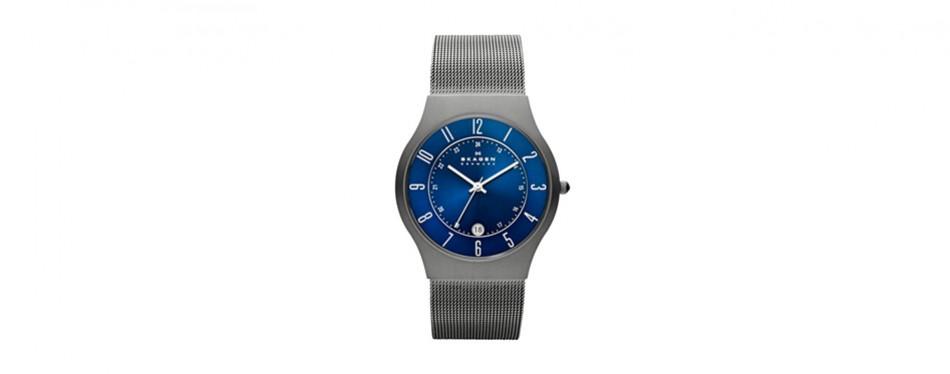 skagen men's sundby titanium watch