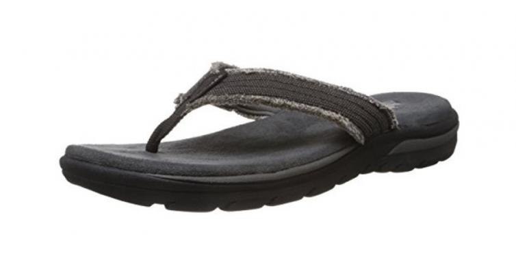skechers usa mne's bosnia flip flops