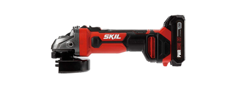 skil 20v 4-1/2 inch angle grinder