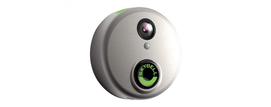 skybell hd silver wifi video smart doorbell