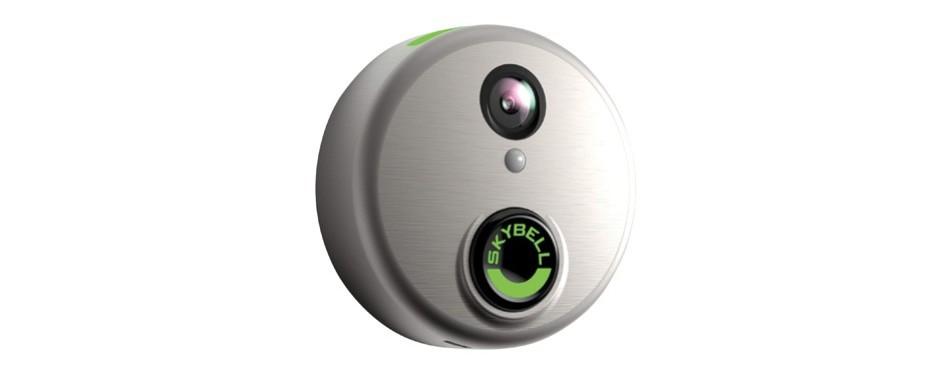 skybell hd silver wifi video smart doorbell
