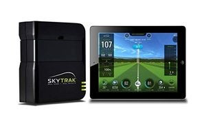 skytrak launch monitor with metal protective case