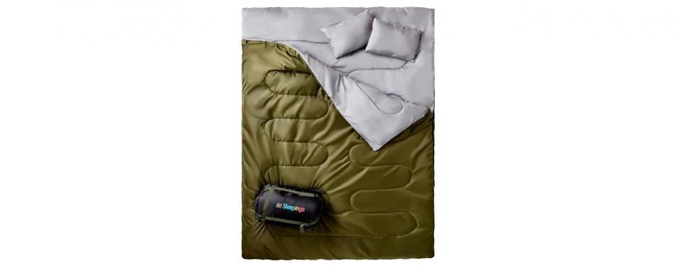 sleepingo double queen-sized sleeping bag
