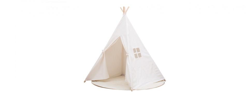 small boy kids cotton canvas teepee