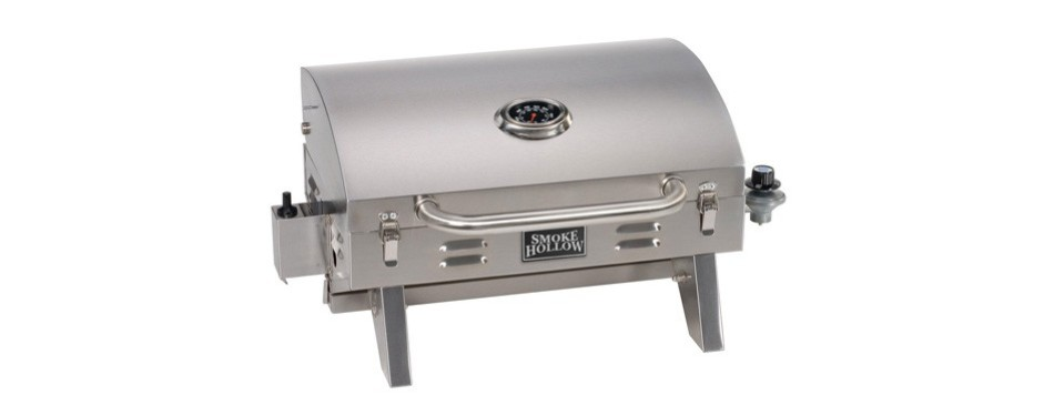 smoke hollow 205 stainless steel tabletop propane gas camping grill
