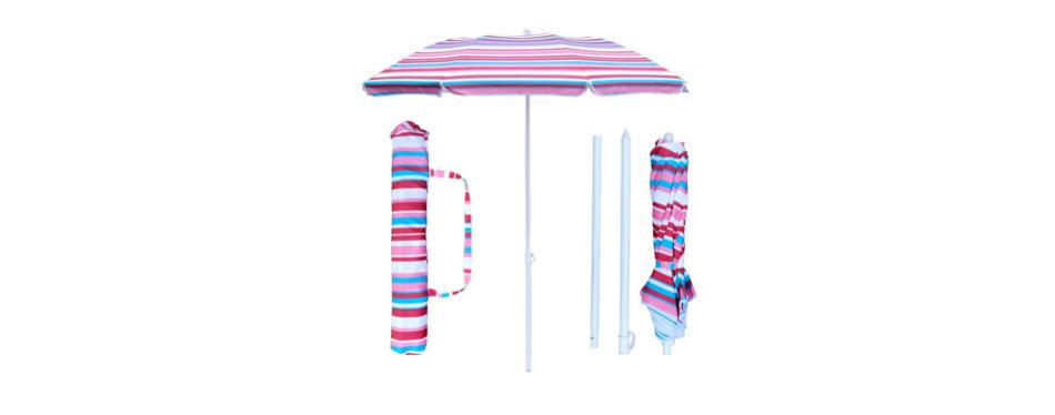 snail 6ft folded beach umbrella