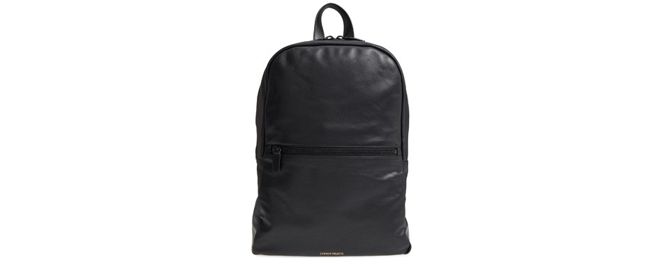 soft leather backpack, by common projects