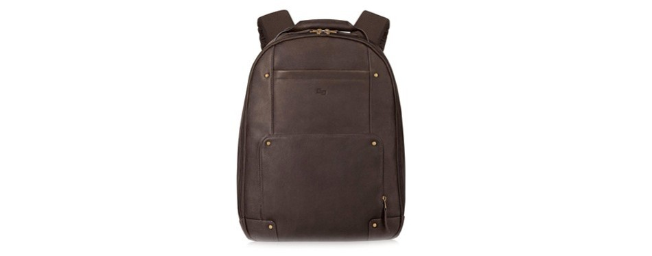 solo reade inch vintage columbian leather backpack