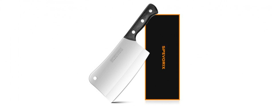spevorix stainless steel chef's cleaver