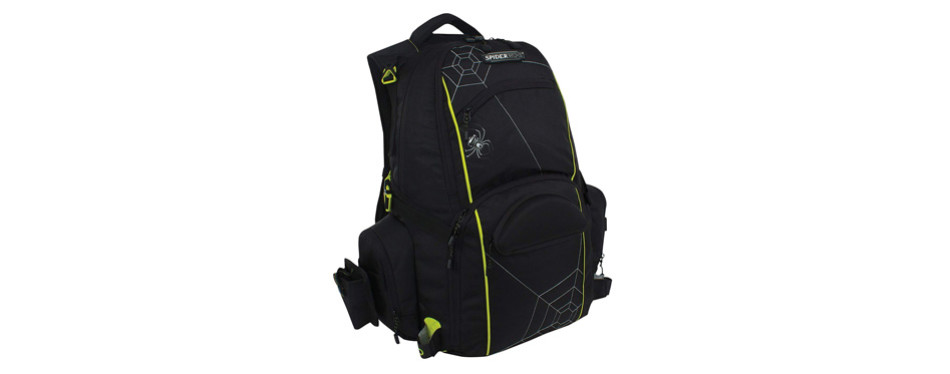 spiderwire fishing tackle backpack w/ 3 medium utility