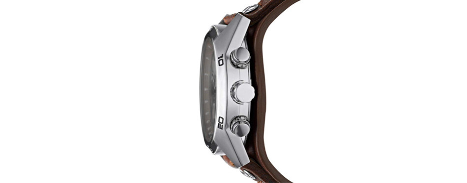 sport cuff stainless steel watch