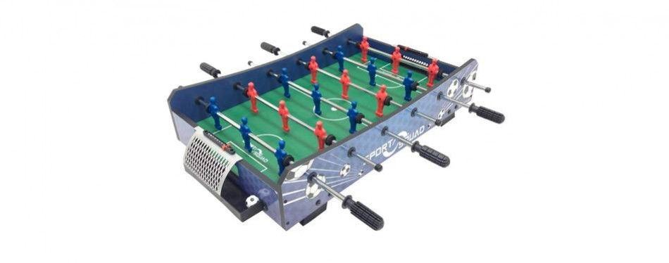 "sport squad fx40 40"" compact mini tabletop foosball table"
