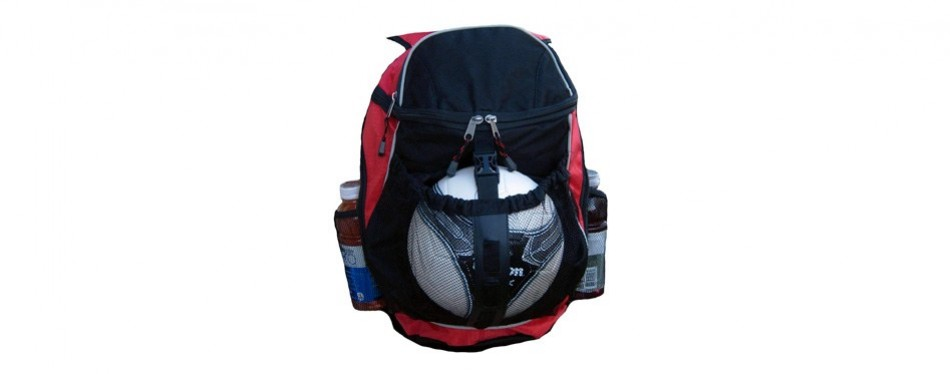 sports athletic backpack w/ pocket for team soccer ball