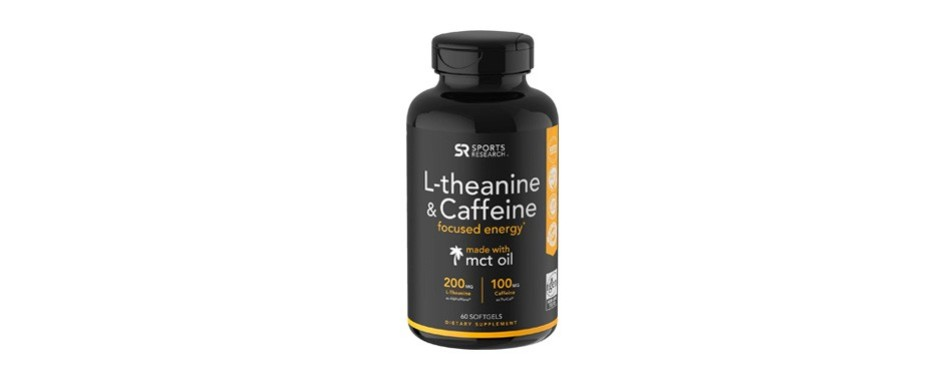 sports research l-theanine & caffeine with coconut mct oil