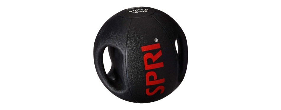 spri dual grip medicine ball