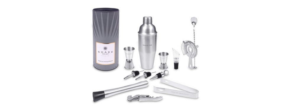 stainless steel complete mixology bartender kit