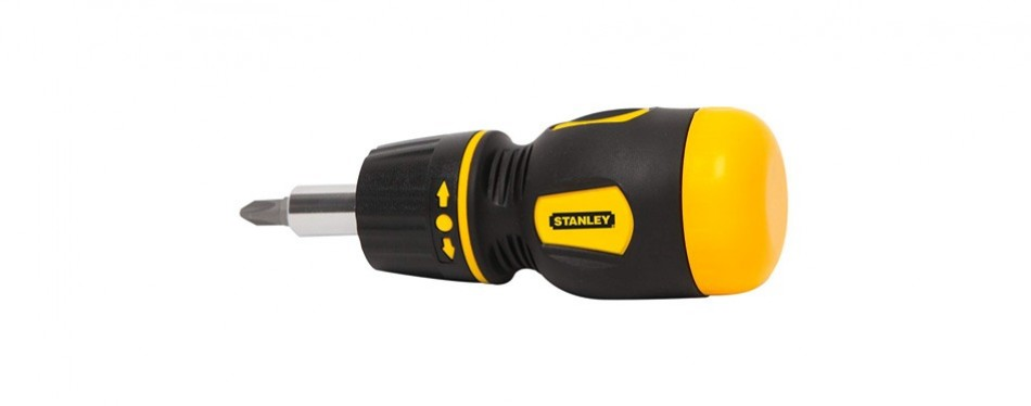 stanley stubby ratcheting multibit screwdriver