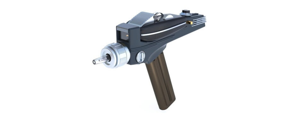 star trek phaser remote control replica - universal tv remote