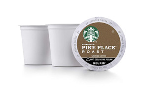 starbucks pike place roast coffee k-cup pods