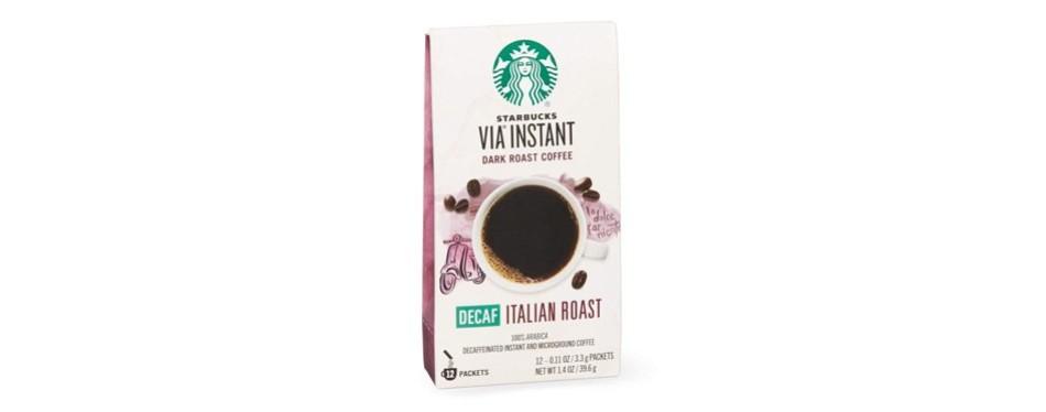 starbucks via decaf italian roast instant coffee