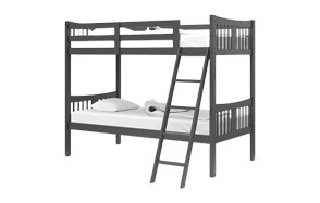 stork craft caribou solid hardwood twin bunk bed